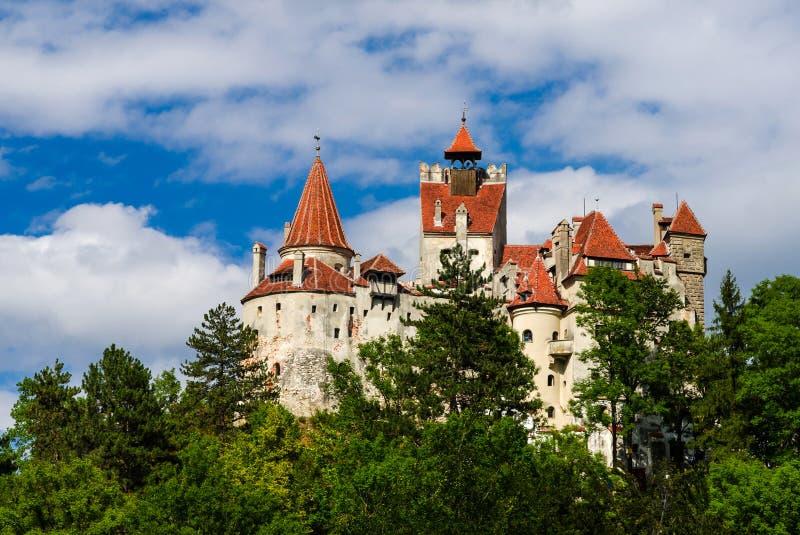麸皮中世纪城堡, Transylvania,罗马尼亚 免版税库存照片