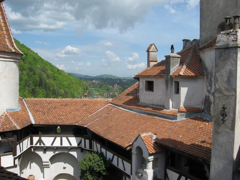 麸皮城堡在特兰西瓦尼亚 免版税库存照片