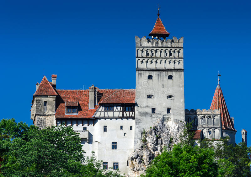 麸皮城堡德雷库拉・罗马尼亚 库存图片