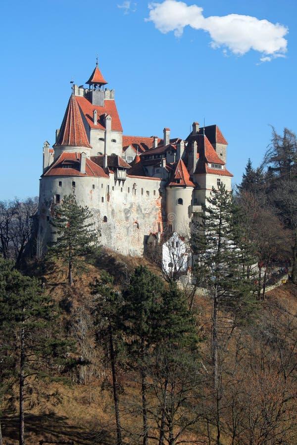 麸皮城堡罗马尼亚 库存图片