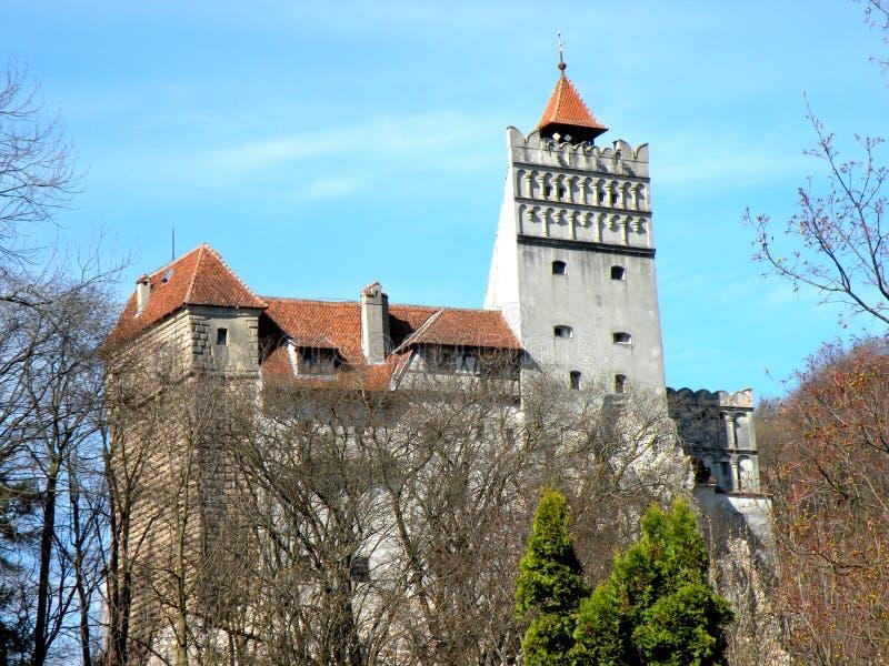 麸皮城堡,在布拉索夫附近,德雷库拉城堡  图库摄影