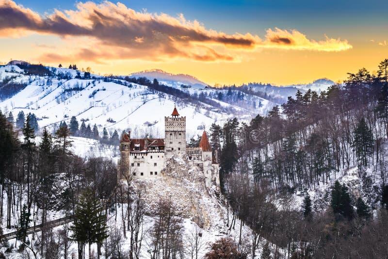 麸皮城堡-罗马尼亚,特兰西瓦尼亚 库存图片