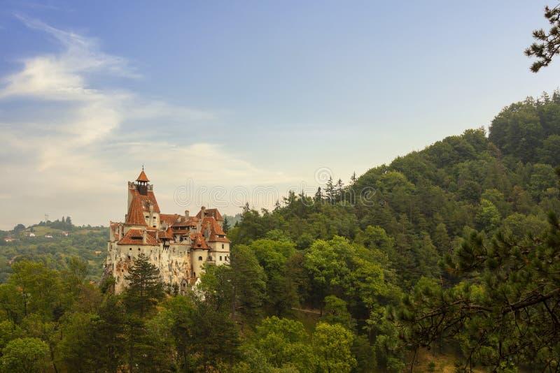麸皮或德雷库拉城堡,罗马尼亚 库存照片