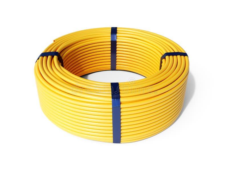 黄塑卷软管 库存照片