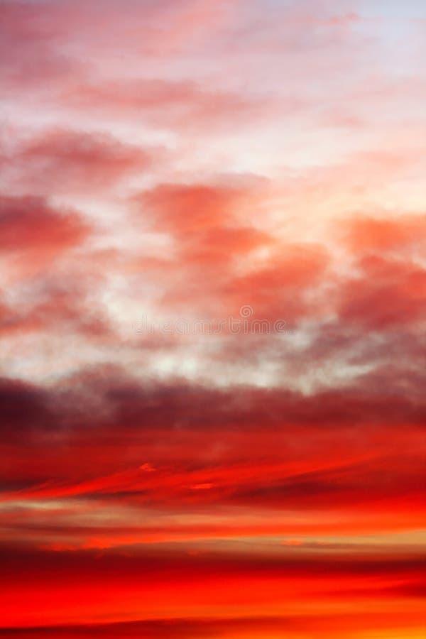黄昏发光的天空 库存照片