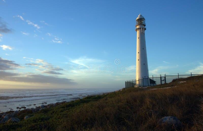 黄昏太阳打开的灯塔 免版税库存图片