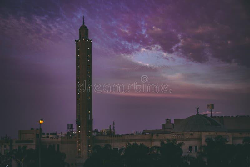 黄昏的清真寺 库存照片