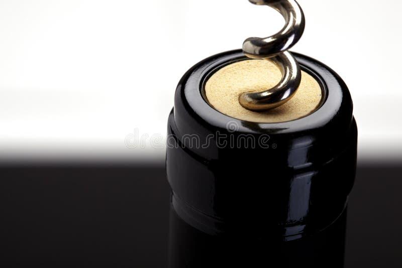 黄柏螺丝红葡萄酒 图库摄影