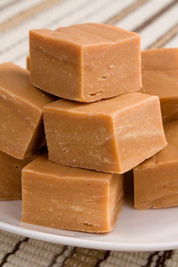 黄油乳脂软糖花生 免版税库存照片