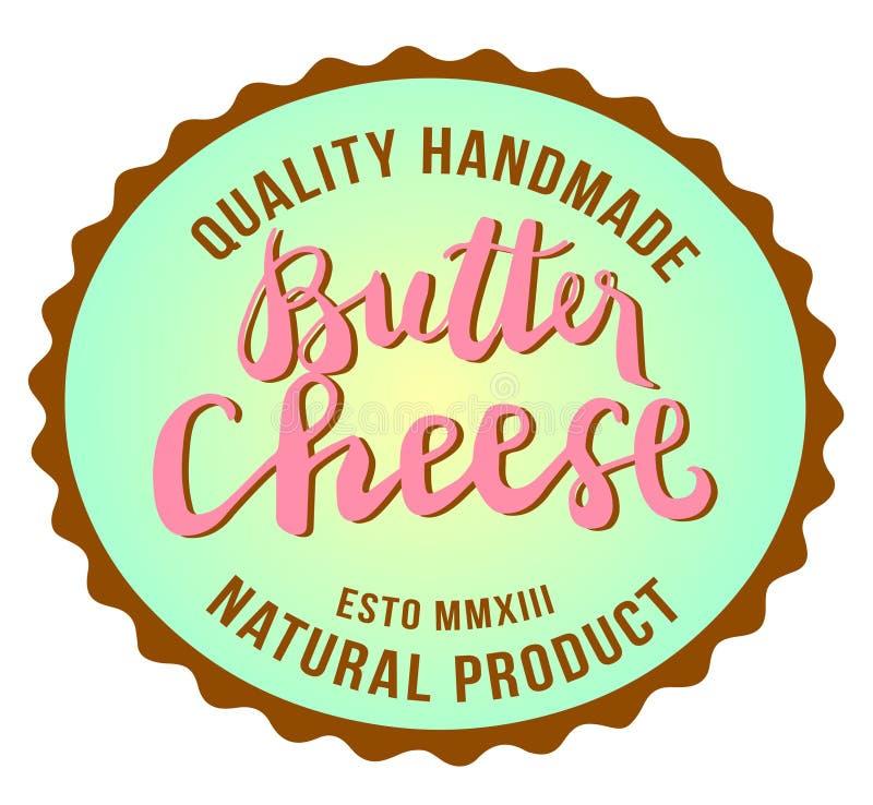 黄油乳酪标志,食物,手工制造的质量,天然产品,传染媒介您的商标的汇集图象,标签,象征 ?? 免版税库存图片