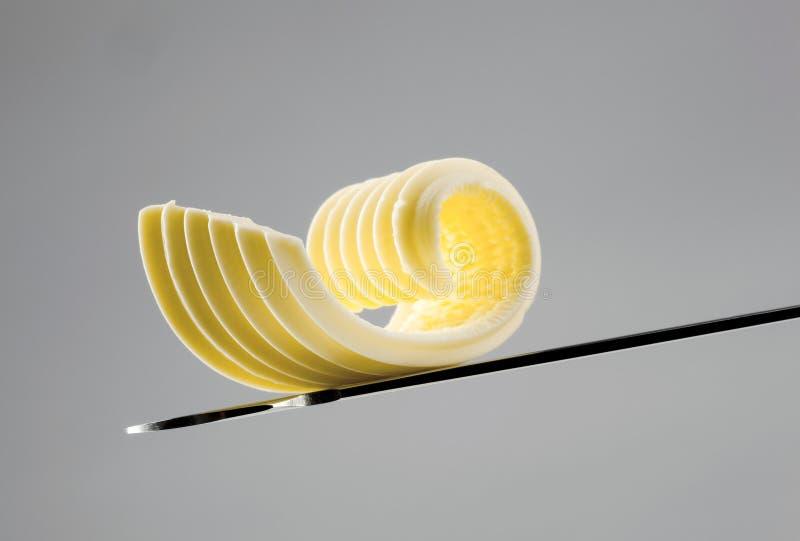 黄油卷毛刀子 免版税图库摄影