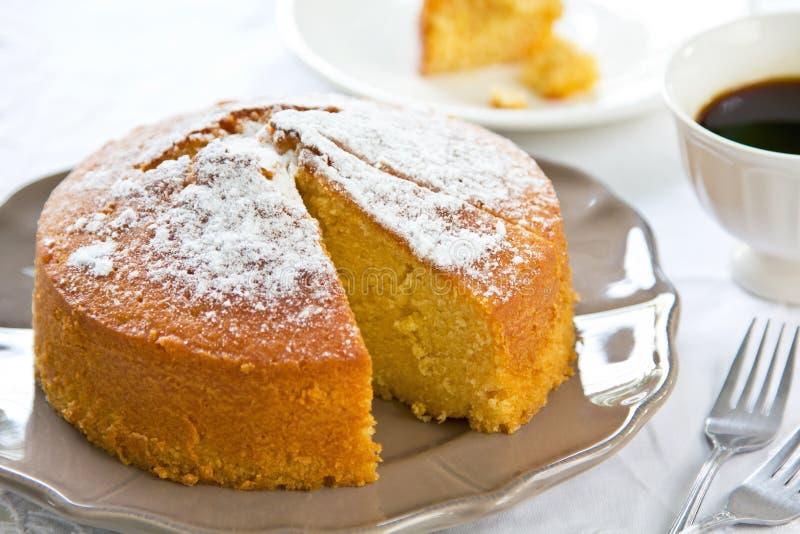 黄油蛋糕 免版税库存照片