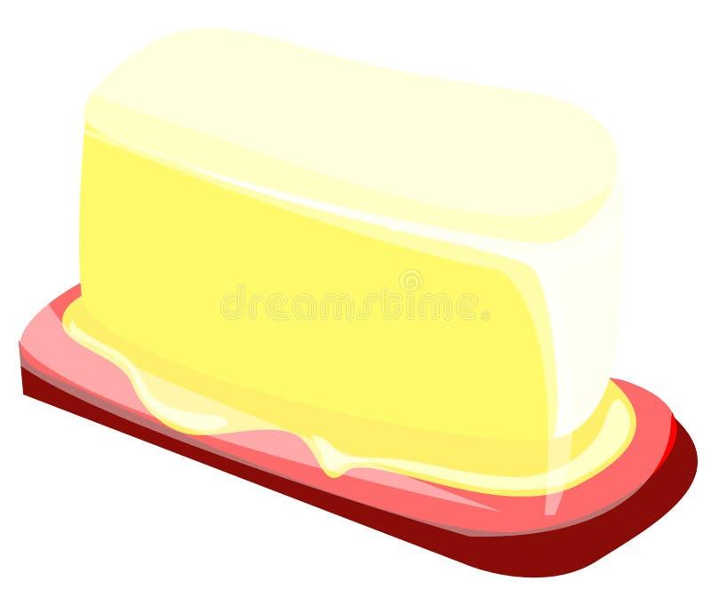 黄油 皇族释放例证