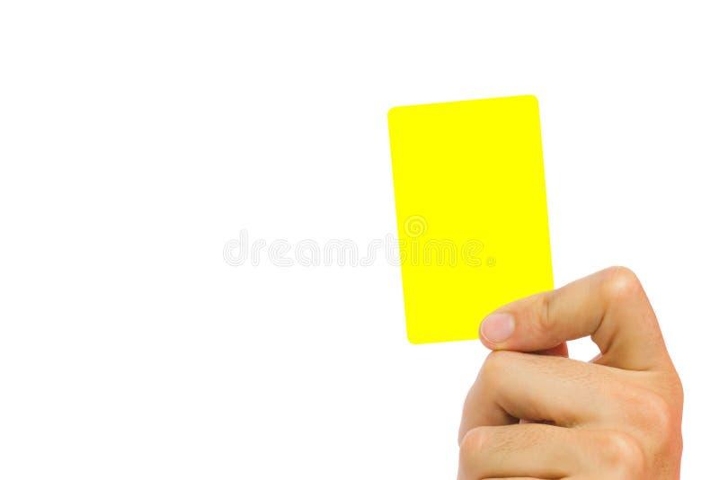 黄牌 库存图片