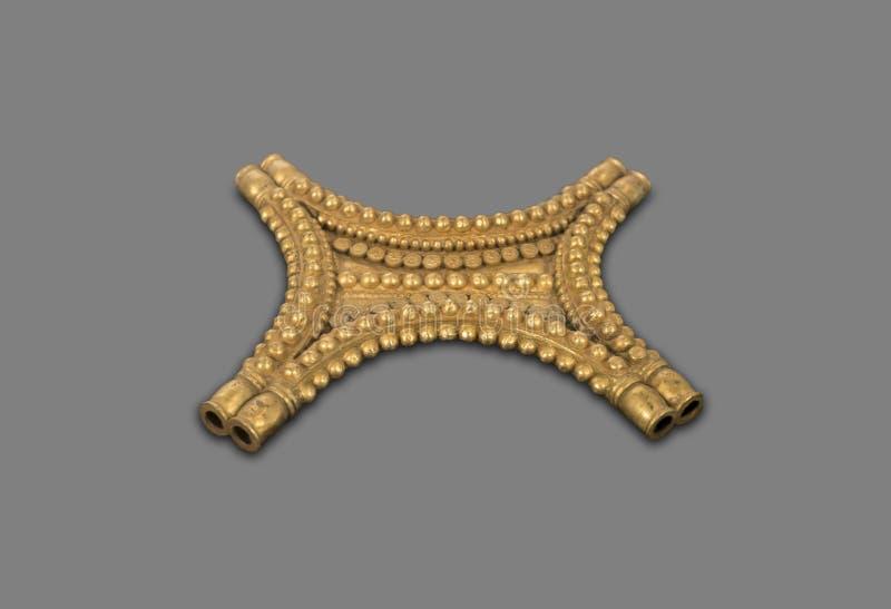 黄牛皮型胸从El Carambolo珍宝  库存照片