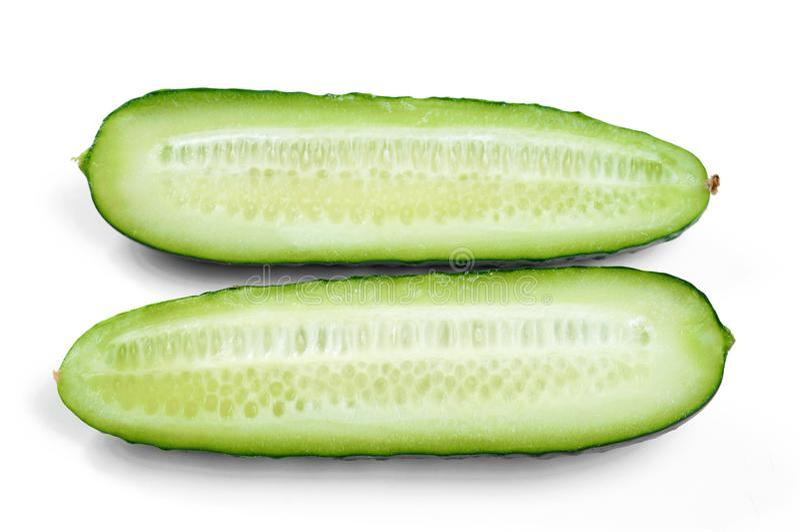 黄瓜切片 库存照片