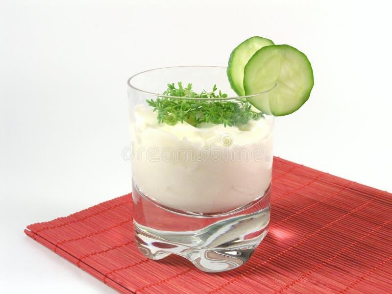 黄瓜水田芥酸奶 库存图片