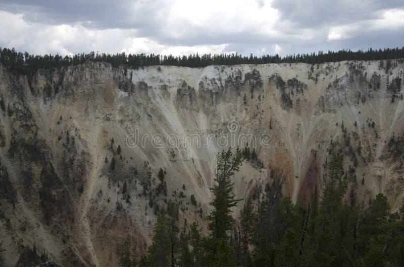 黄石国家公园峡谷 库存照片