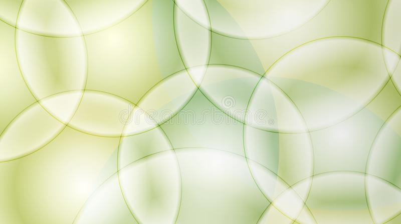 黄绿色圈子与光线影响的样式背景 皇族释放例证