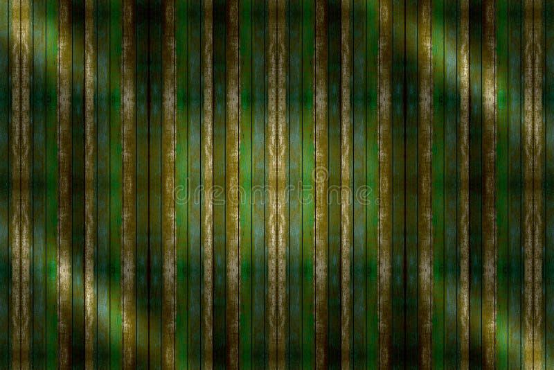 黄绿色木背景、板条或者墙壁纹理 库存图片