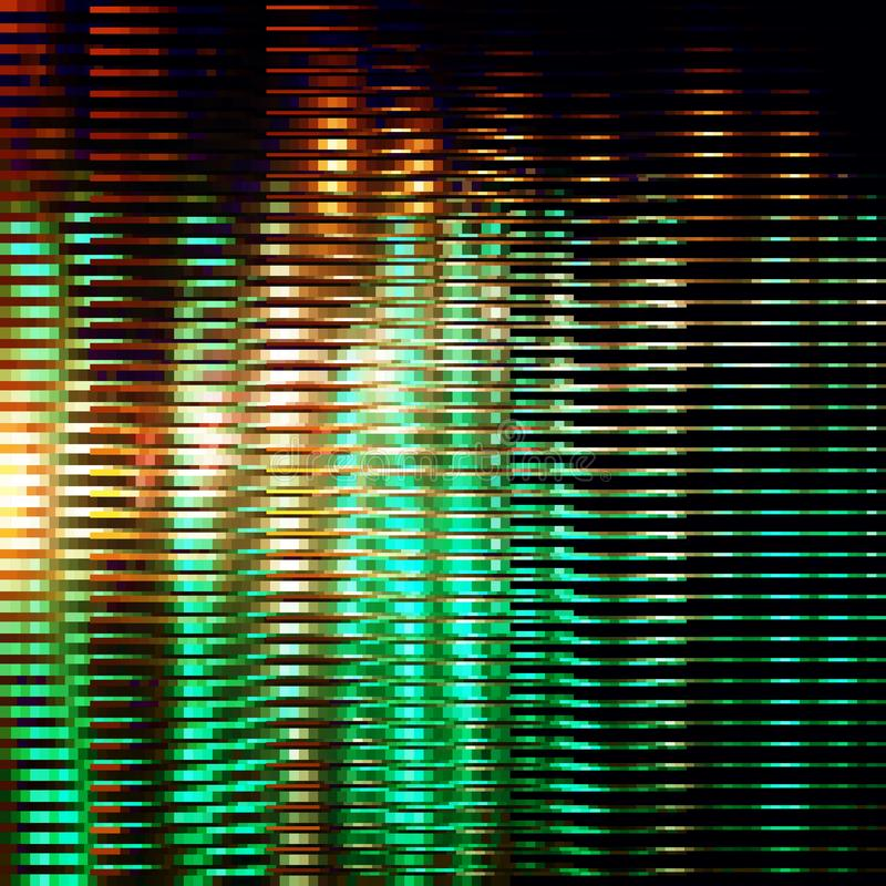 黄绿镶边闪烁背景 库存例证