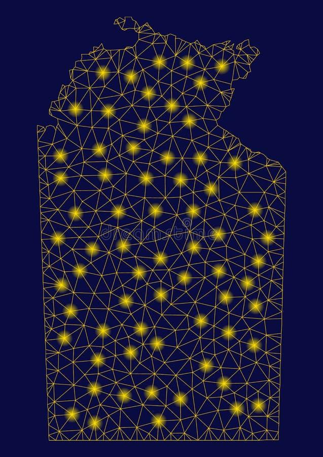 黄色与一刹那斑点的滤网第2张澳大利亚北方领土地图 向量例证
