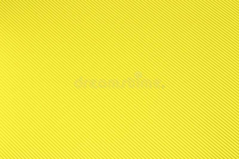 黄色波状纸板背景 免版税库存图片