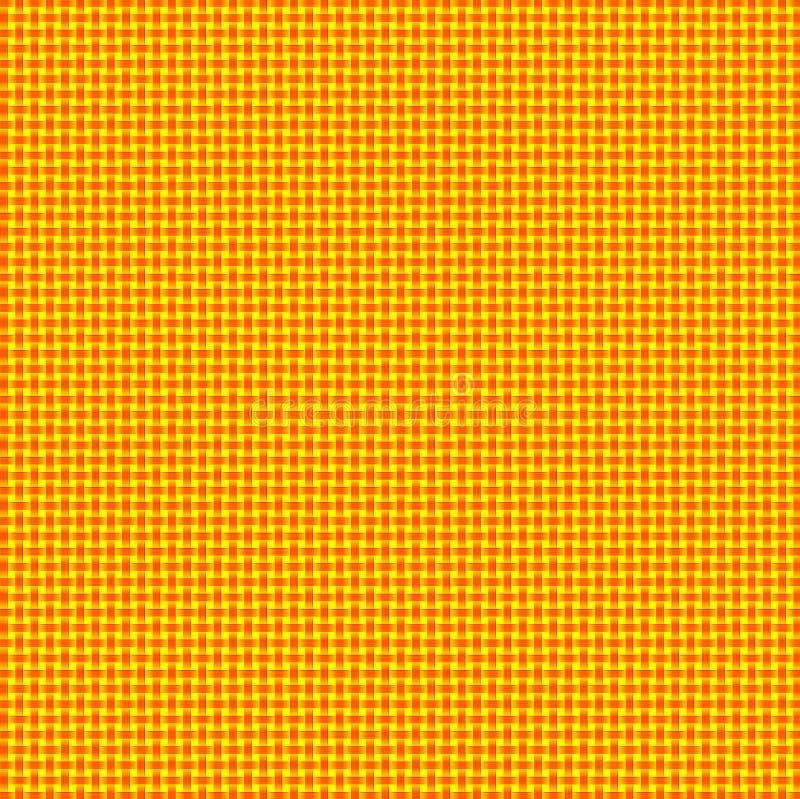 黄色和橙色被编织的Basketweave背景 皇族释放例证