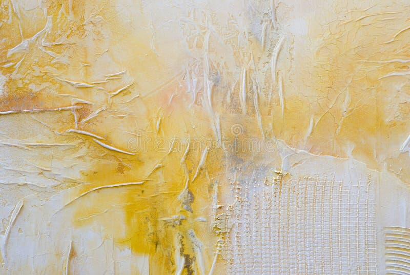 黄色和空白艺术 免版税库存图片