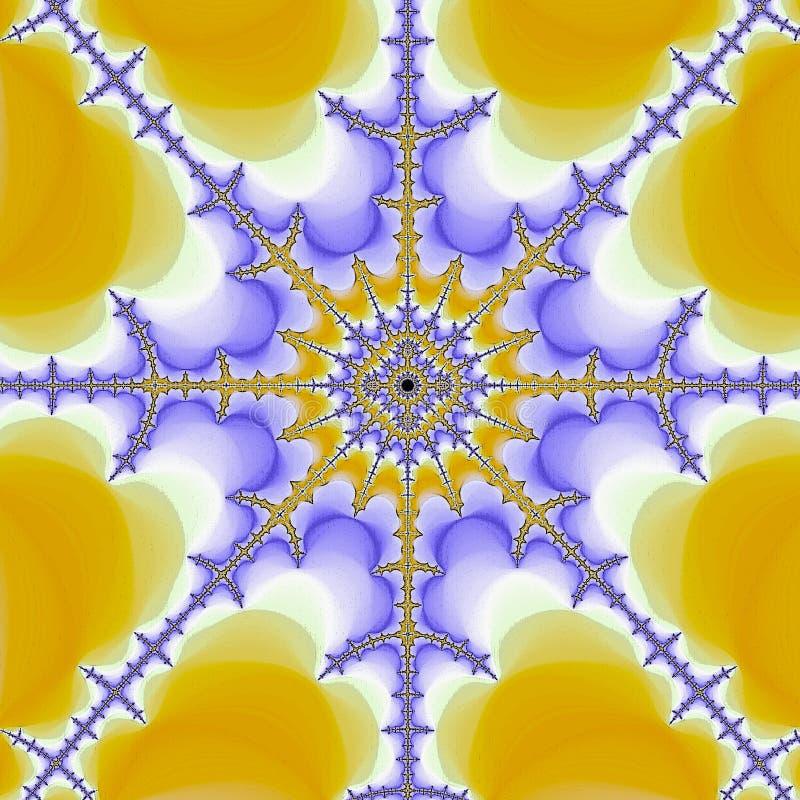 黄色和紫罗兰色稀薄的分数维坛场 皇族释放例证