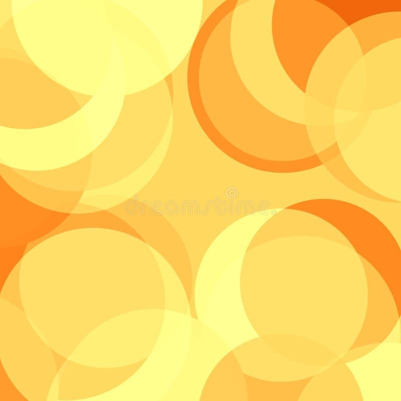 黄色圈子 向量例证