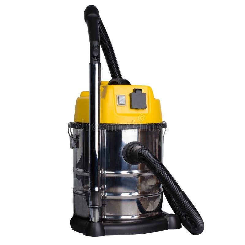 黄色大工业的吸尘器- 免版税库存图片