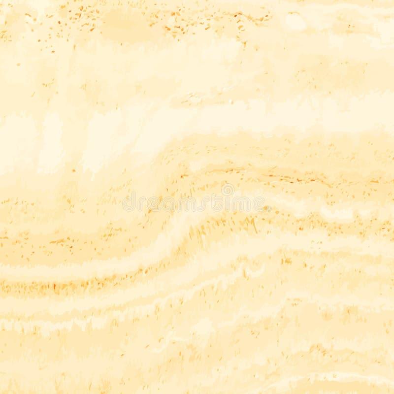 黄色大理石罗马经典石灰华纹理,石地板样式背景 向量例证
