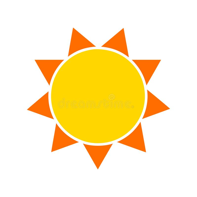 黄色太阳象 也corel凹道例证向量 向量例证