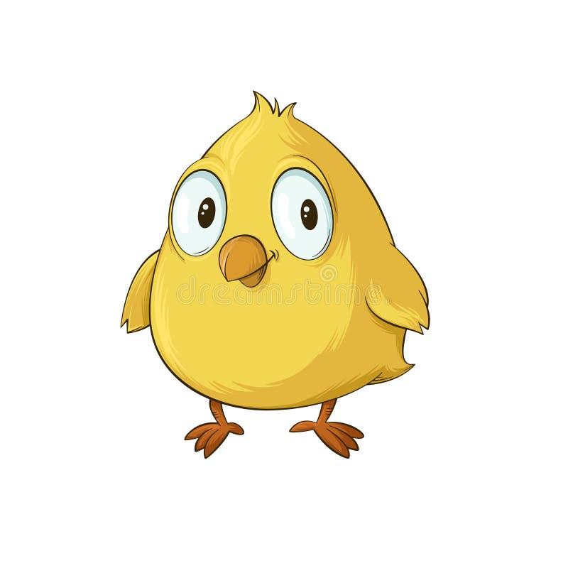 黄色小鸡动画片 向量例证