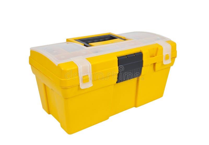 黄色工具箱 库存图片