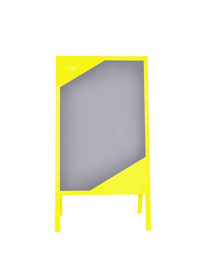 黄色广告的立场标志隔绝了 图库摄影