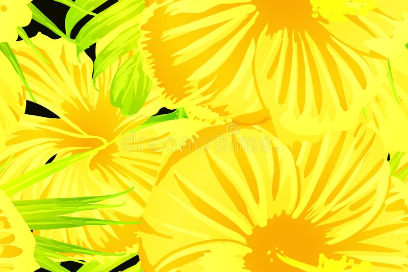 黄色异乎寻常的样式 库存例证