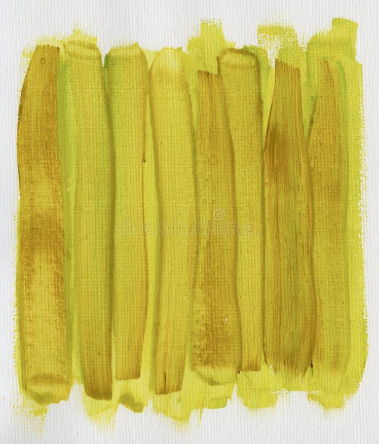 黄色抽象棕色的画布被绘 向量例证