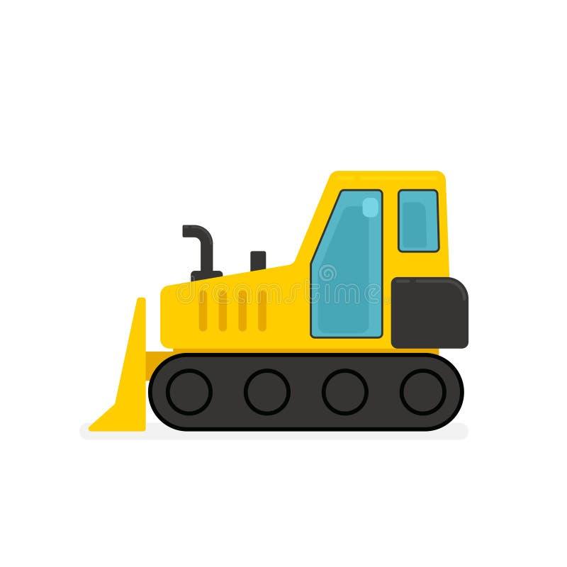 黄色推土机象 向量例证