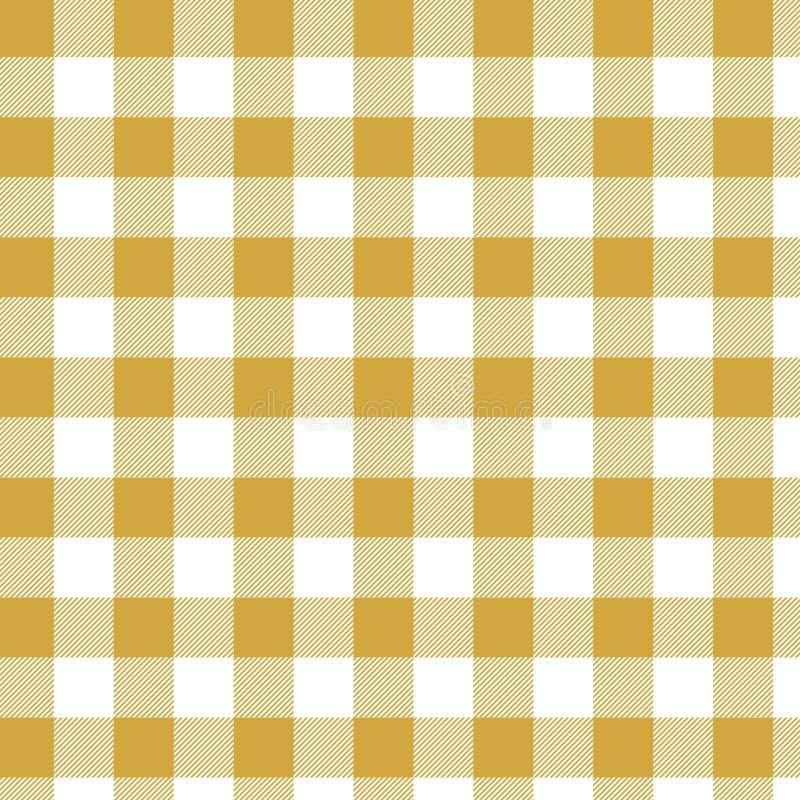 黄色方格花布样式 从正方形格子花呢披肩的,桌布,衣裳,衬衣,礼服,纸,卧具,毯子的被子的纹理 库存例证