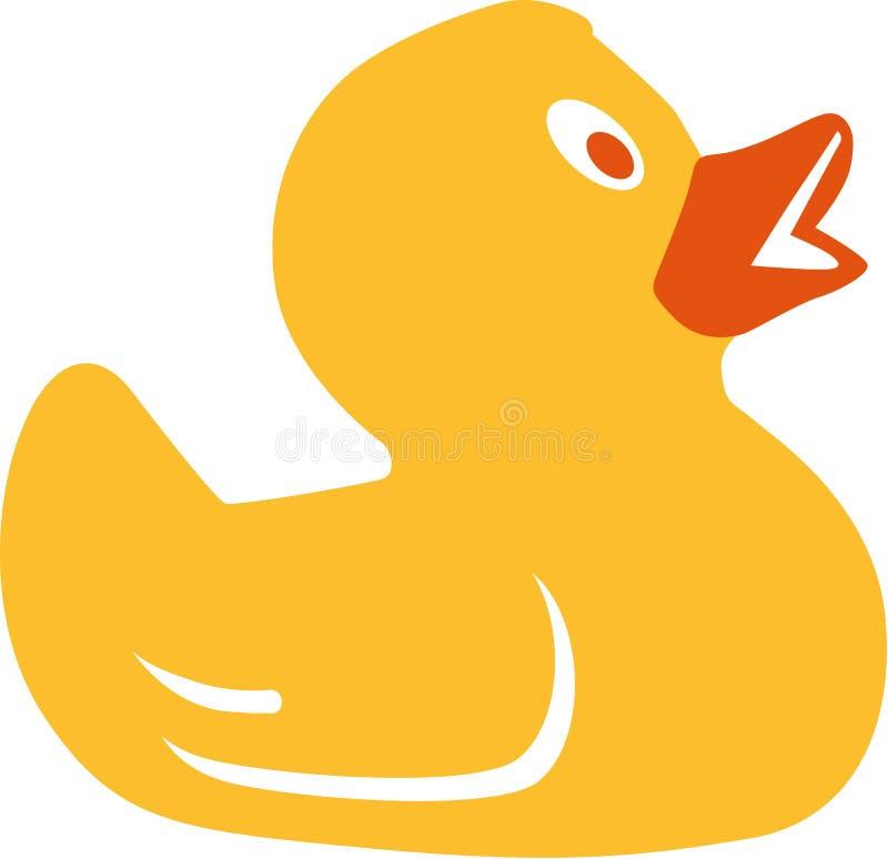 黄色橡胶鸭子 向量例证