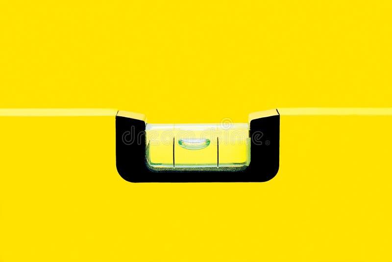 黄色气泡水准 库存图片