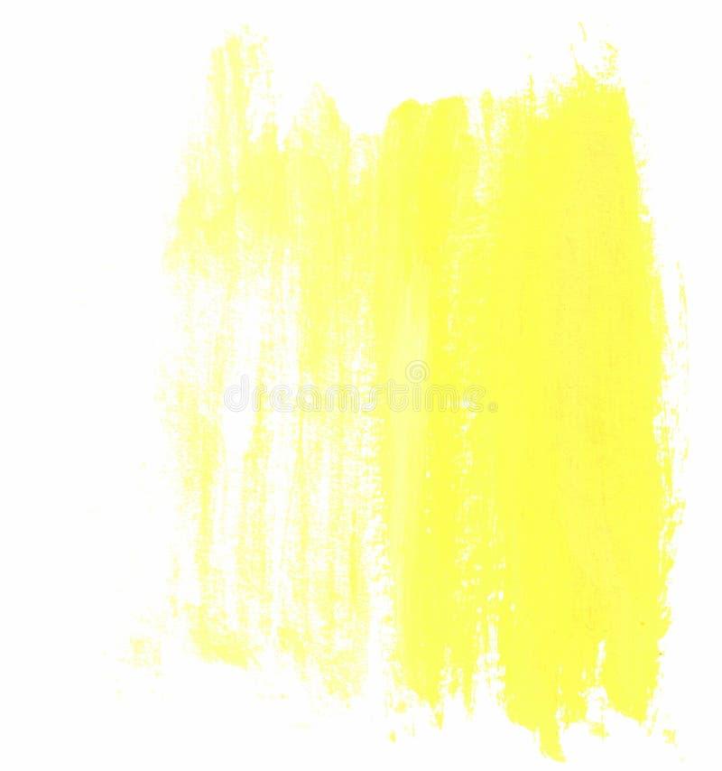 黄色水彩绘了与拷贝空间的背景您的文本的 皇族释放例证