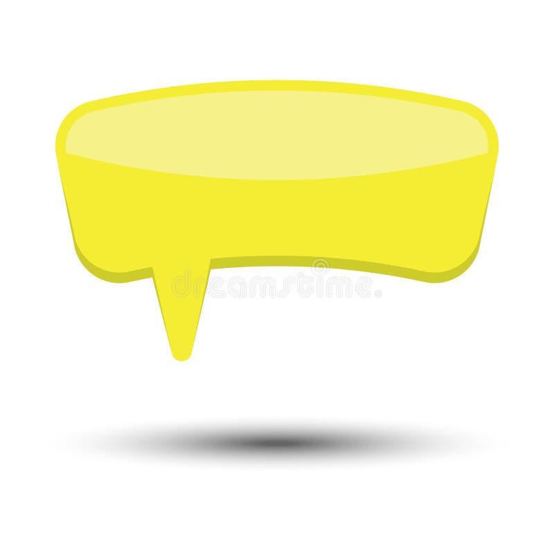 黄色没有词组的动画片可笑的气球讲话泡影 库存例证