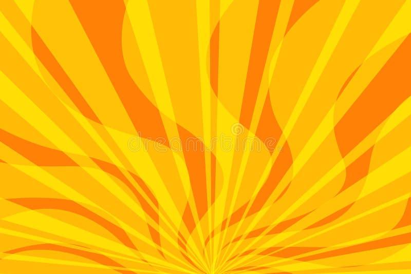 黄色火流行艺术背景 皇族释放例证