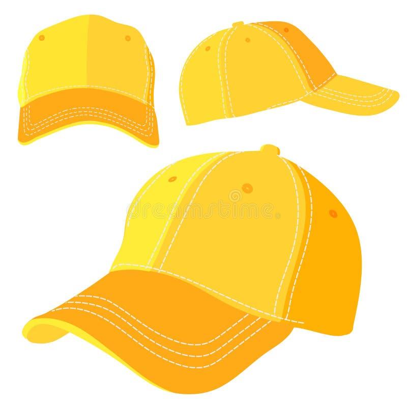 黄色盖帽 库存例证