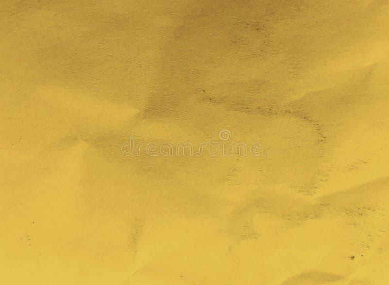 黄色纸背景概念的纹理七高八低的概略的关闭 库存照片