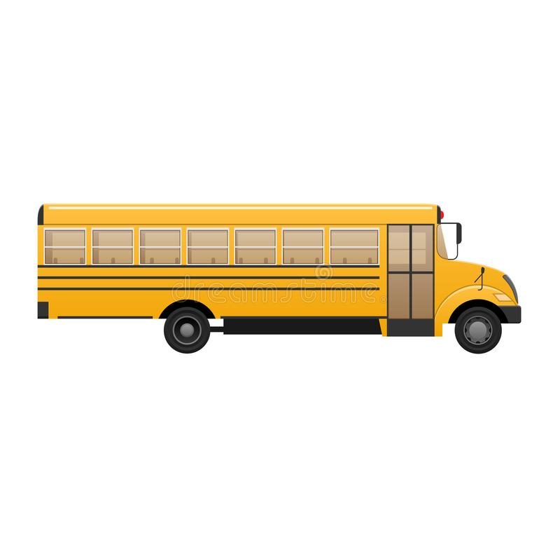 黄色经典小学生` s公共汽车 现代的教育 旅行与孩子 库存例证