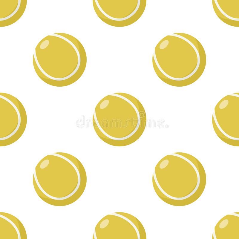 黄色网球象无缝的样式 向量例证